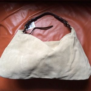 NWT Suede Leather slouchy hobo bag from GAP